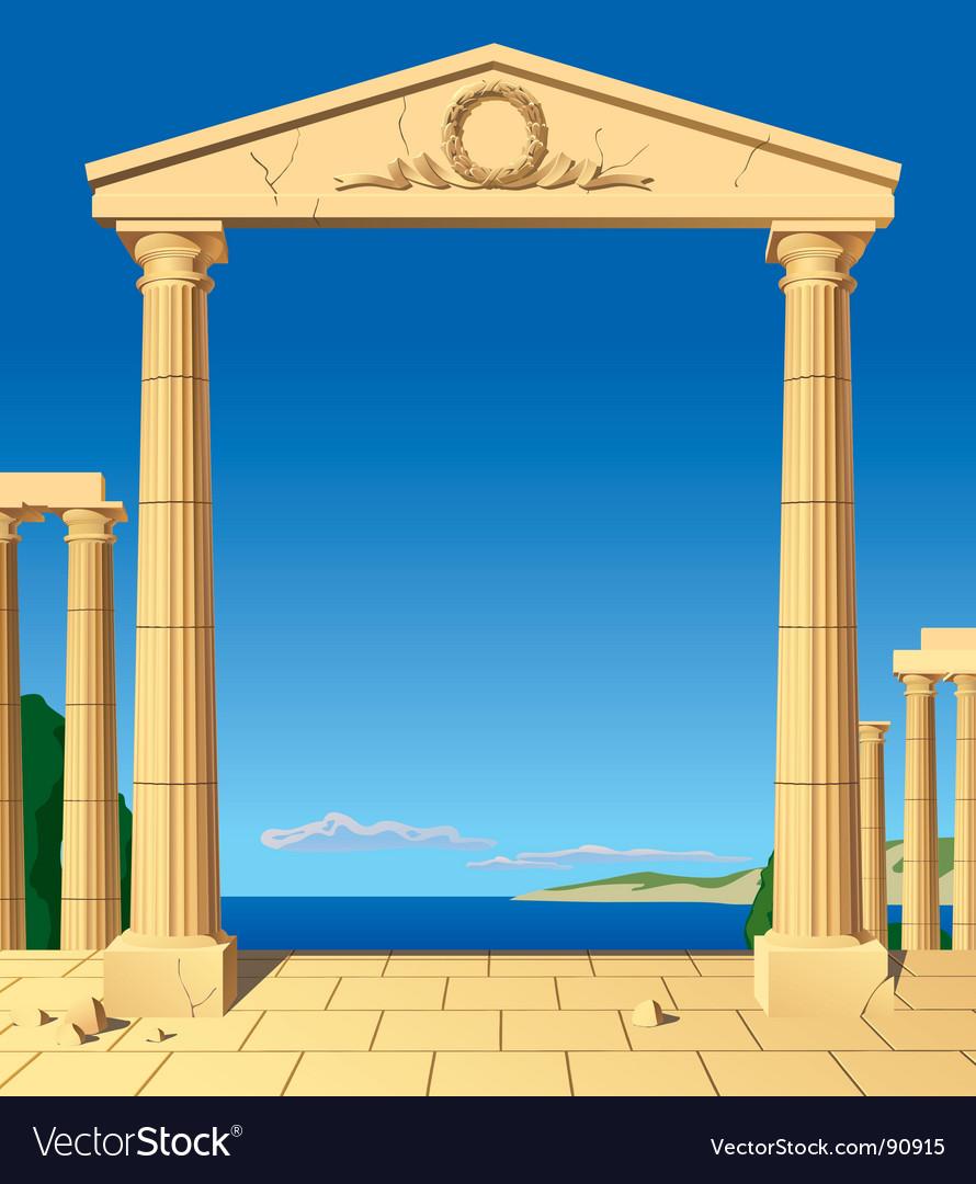 Antic entrance vector image