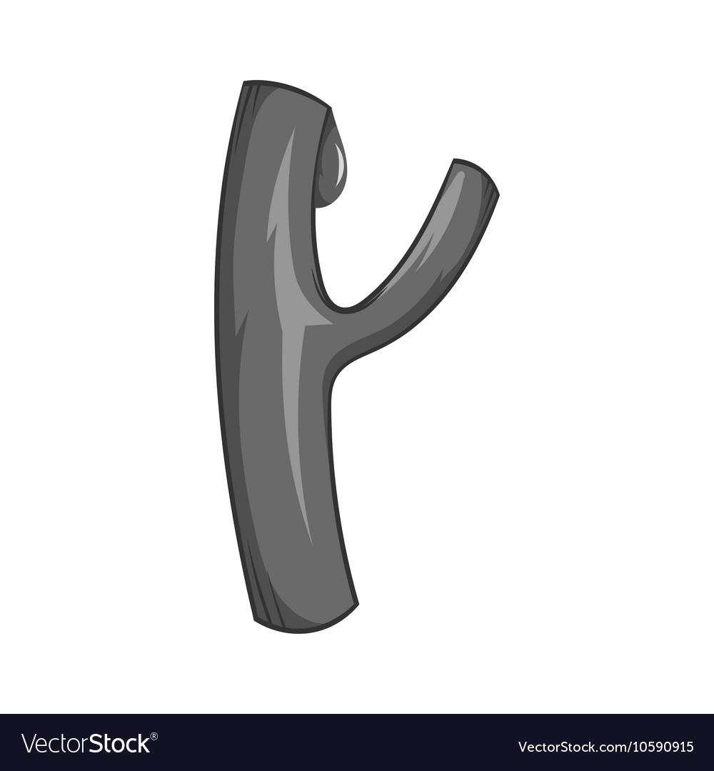 Blood vessel icon black monochrome style vector image