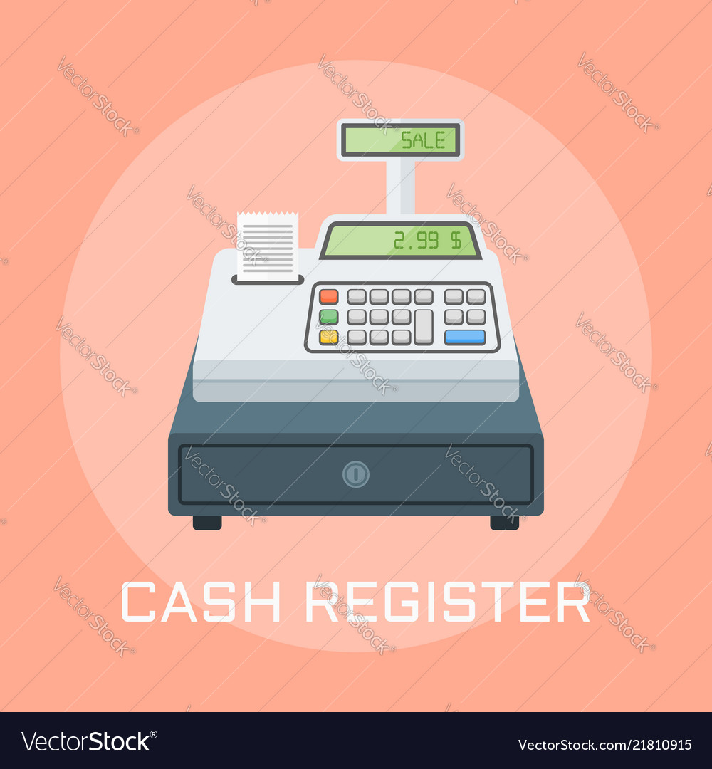 Cash register flat design