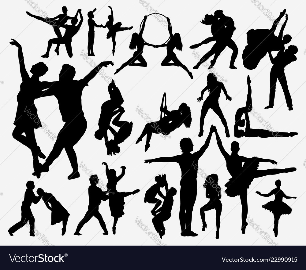 Couple dance silhouette