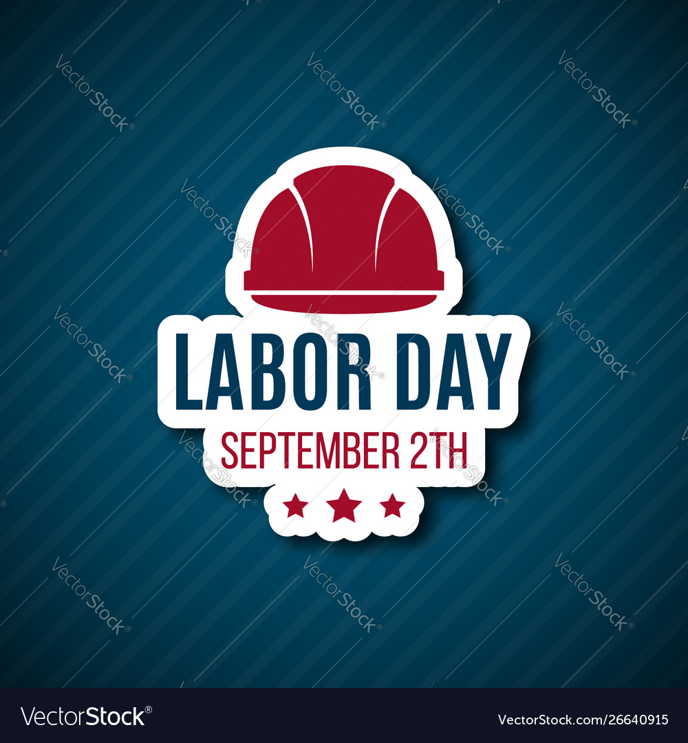Labor day paper sticker