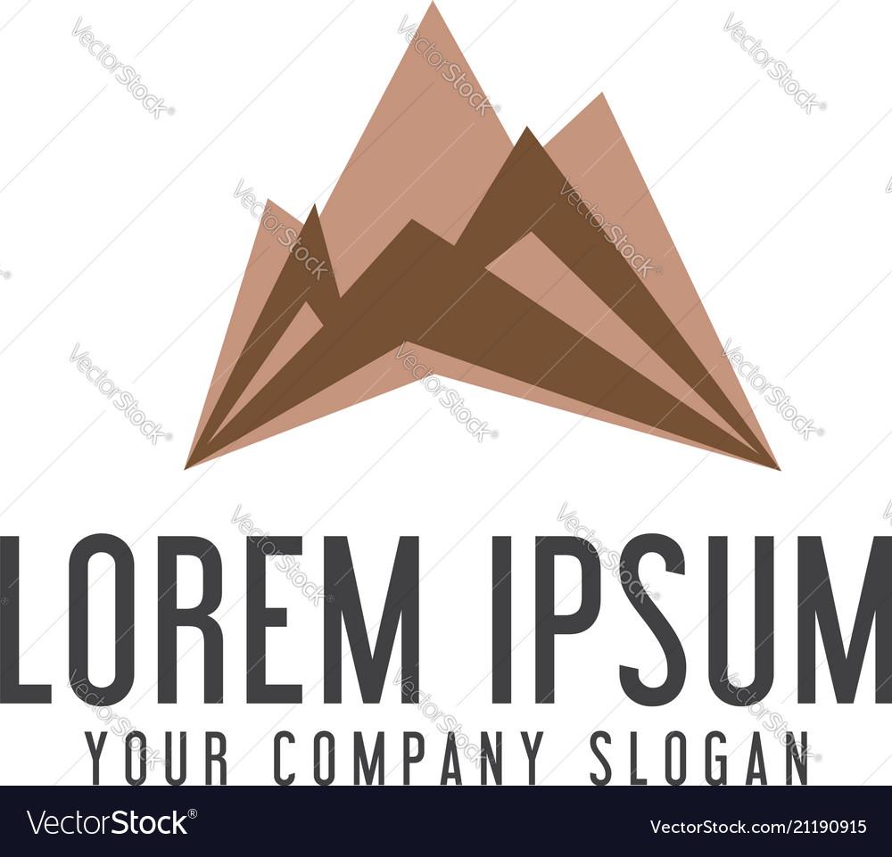 Modern mountain logo design concept template vector image