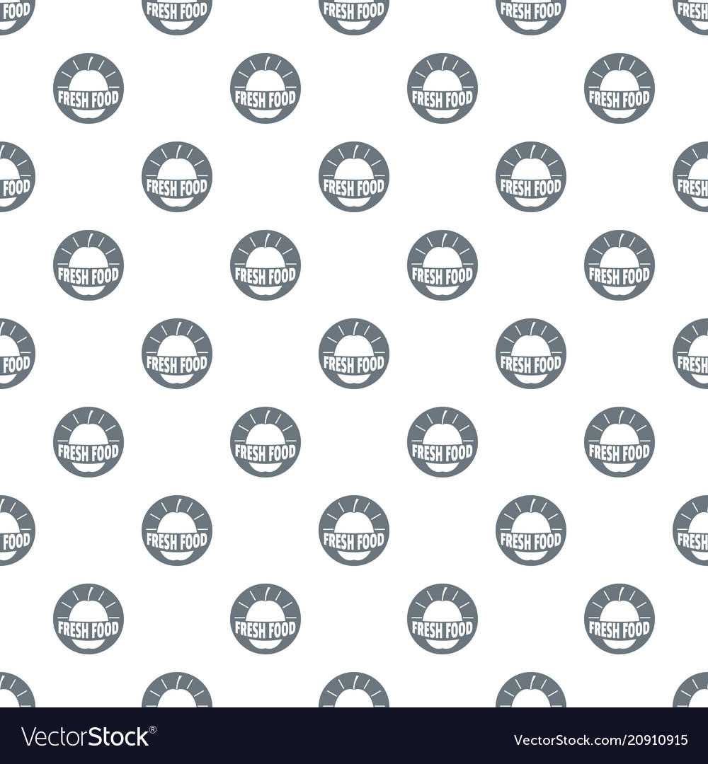 New fresh food pattern seamless vector image