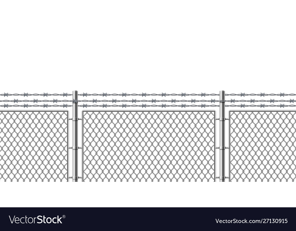 Realistic detailed 3d metal fence wire mesh