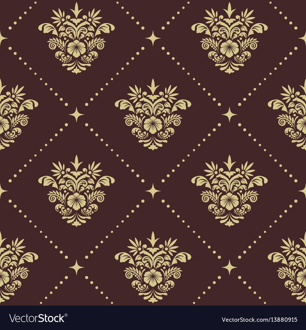 Vintage baroque seamless pattern vector image