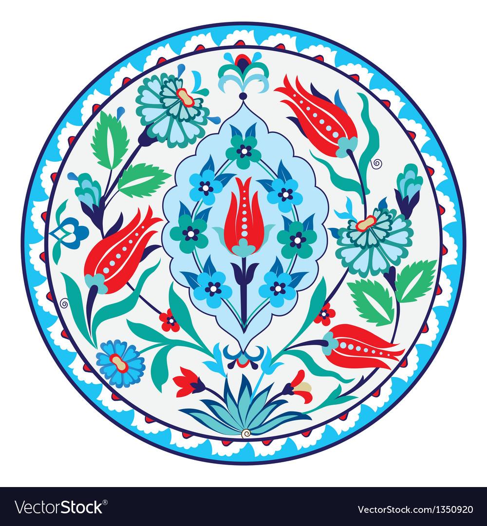 Antique ottoman Turkish ceramic design vector image