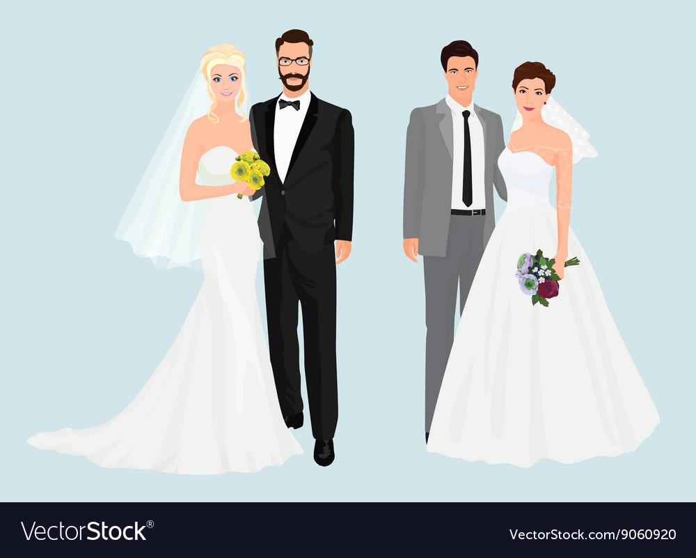 Beautiful elegant Wedding couples collection set