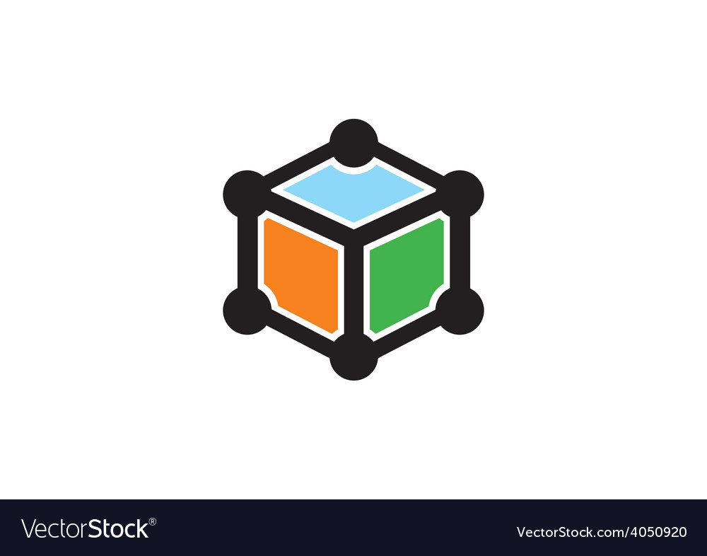 Box cube data technology logo