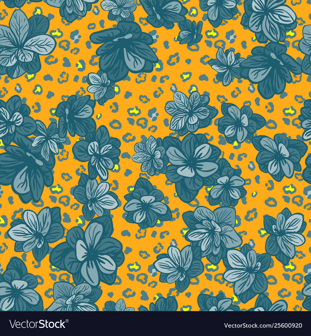 Colorful seamless pattern with leopard print and
