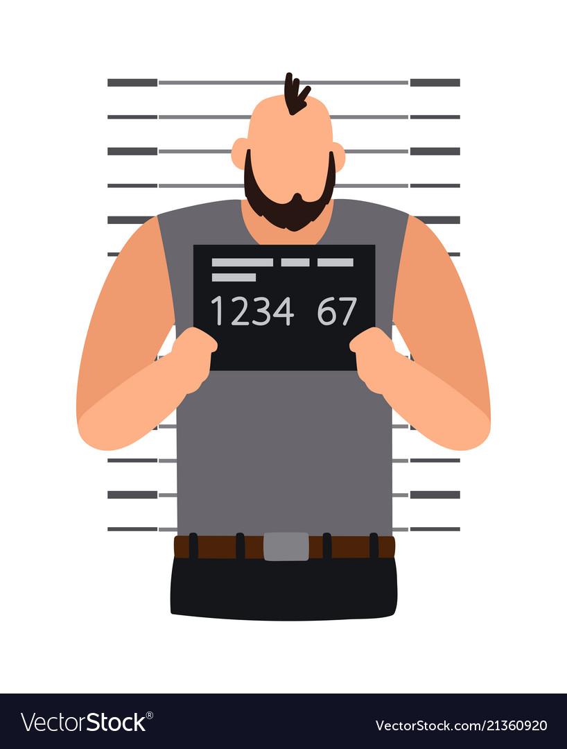 Criminal man photo