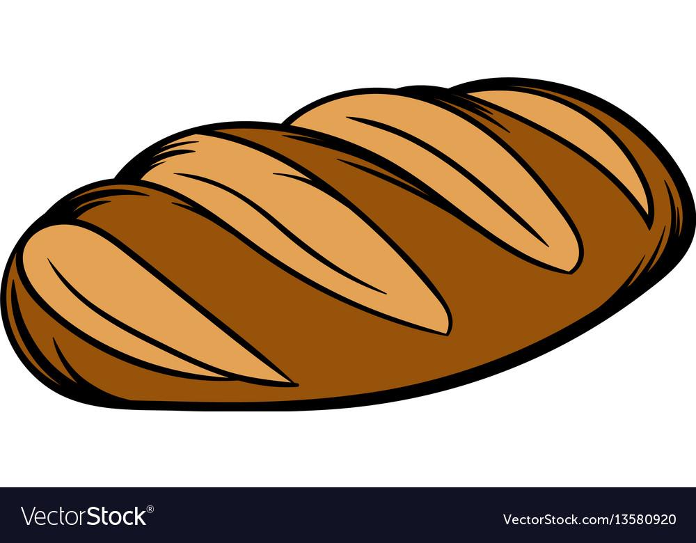 Fresh bread can icon cartoon