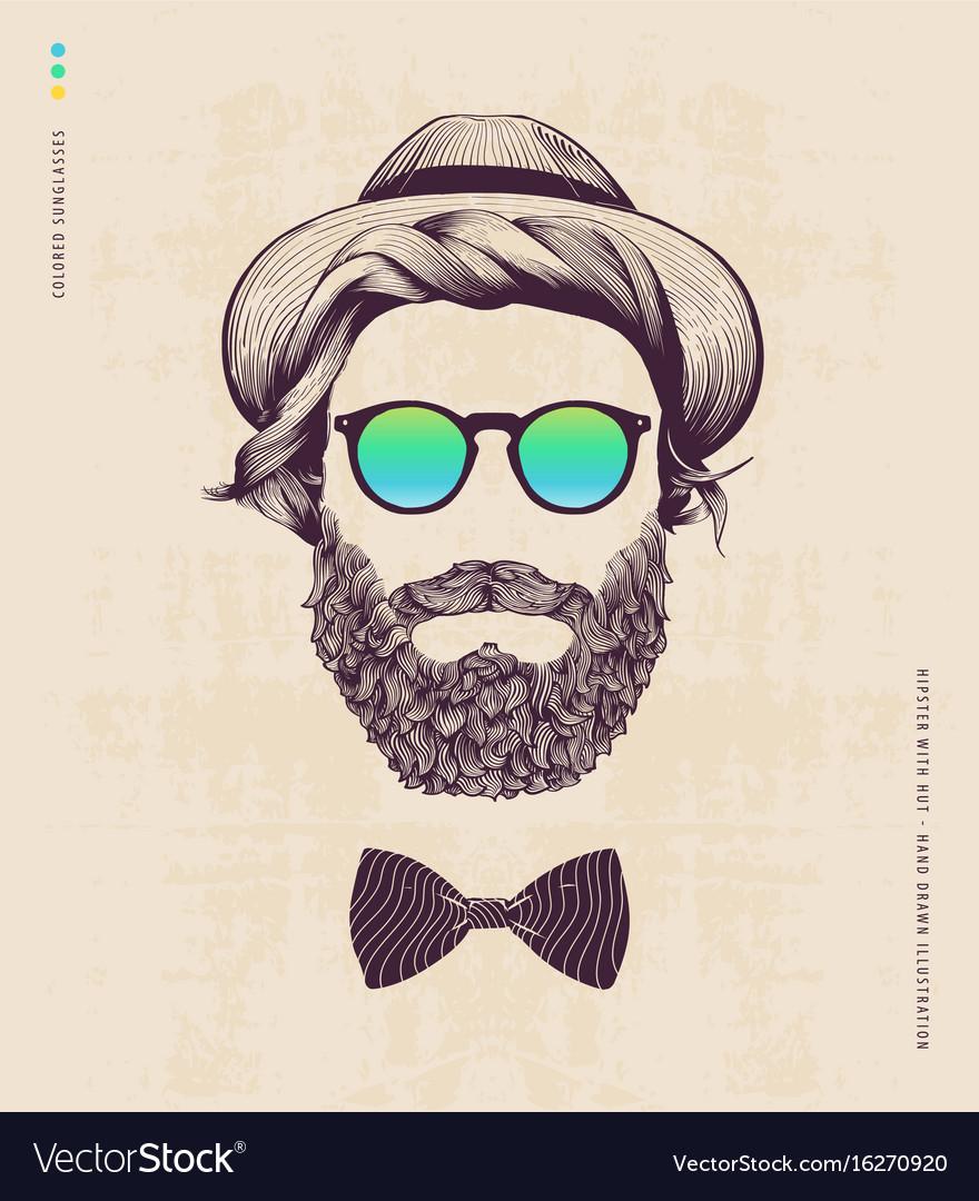 Hipster with hat
