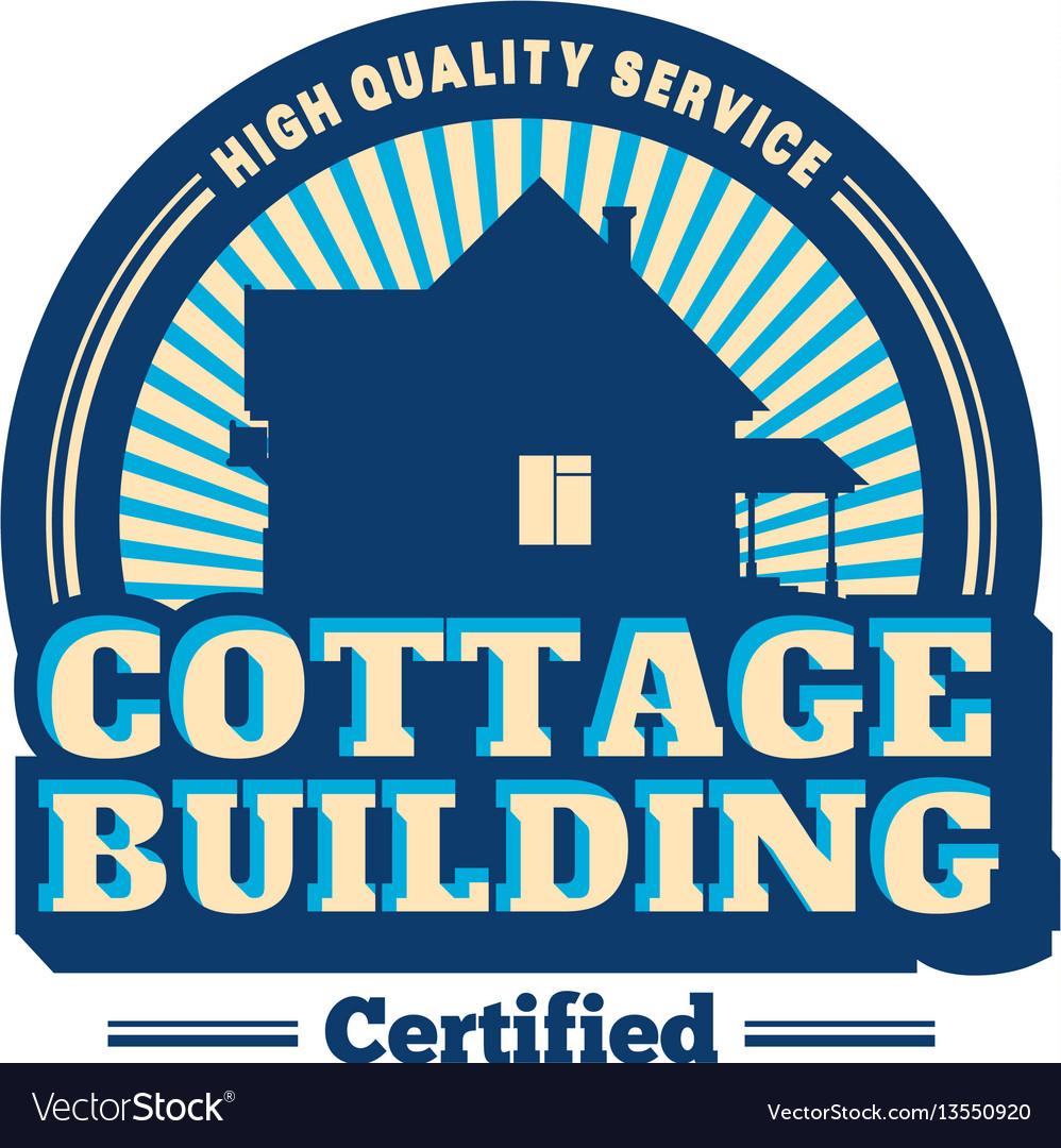 House real estate logo vector image