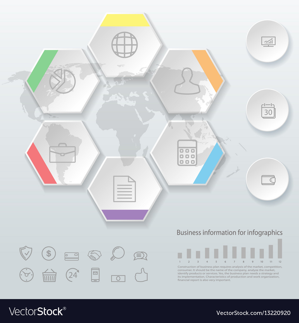 Infographics business options template for vector image