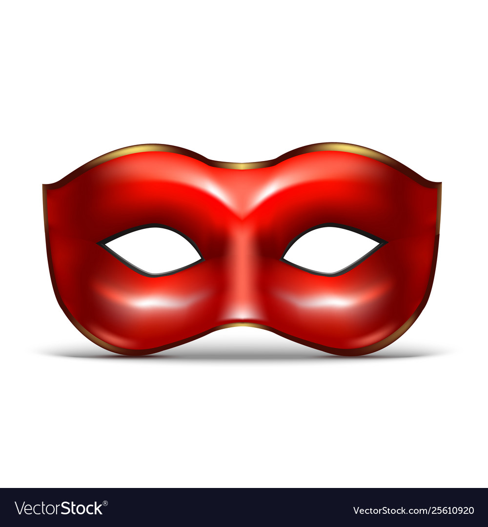 Realistic 3d detailed red colombina mask