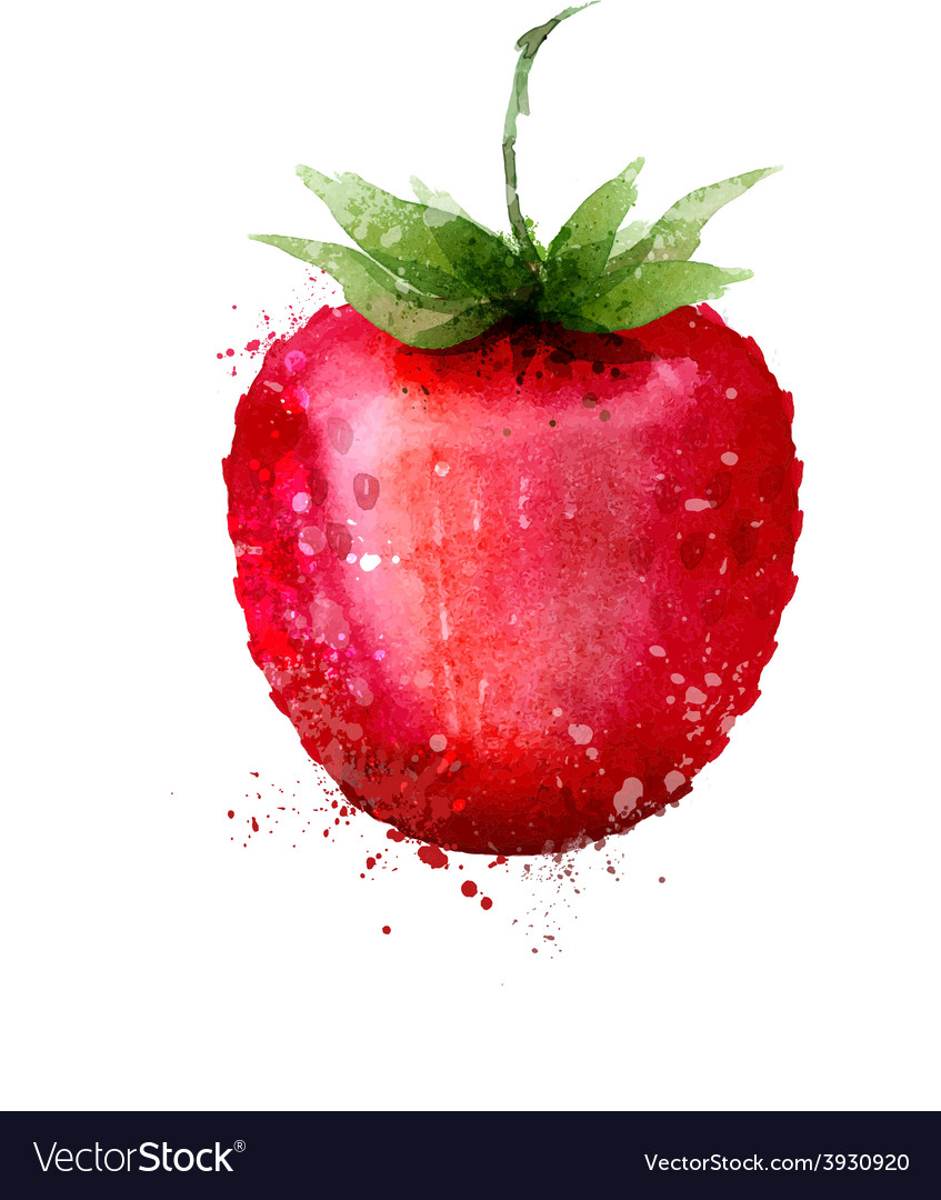 Strawberry logo design template Berry or