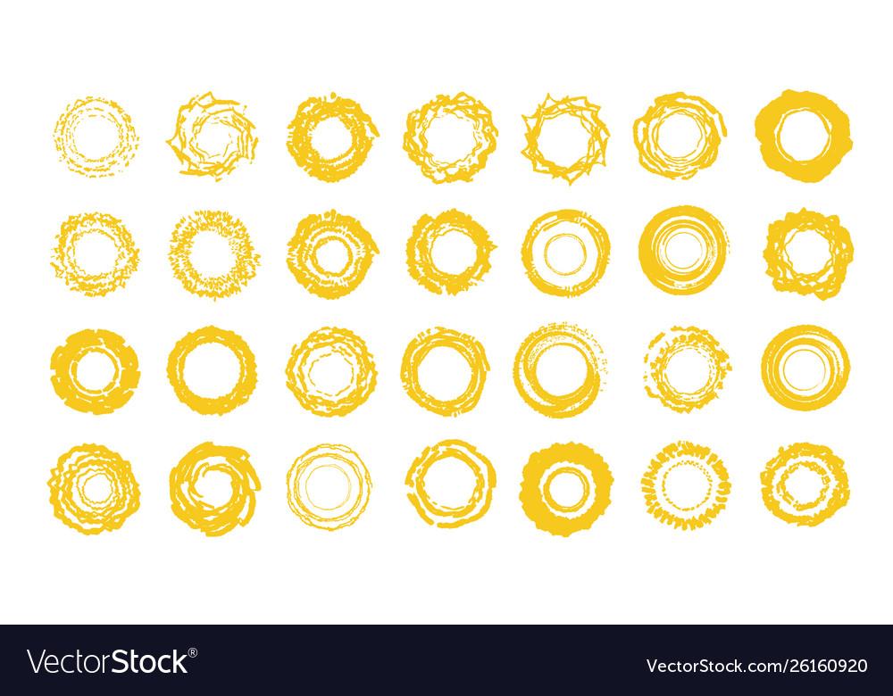 Sun icons set sunny summer logo template