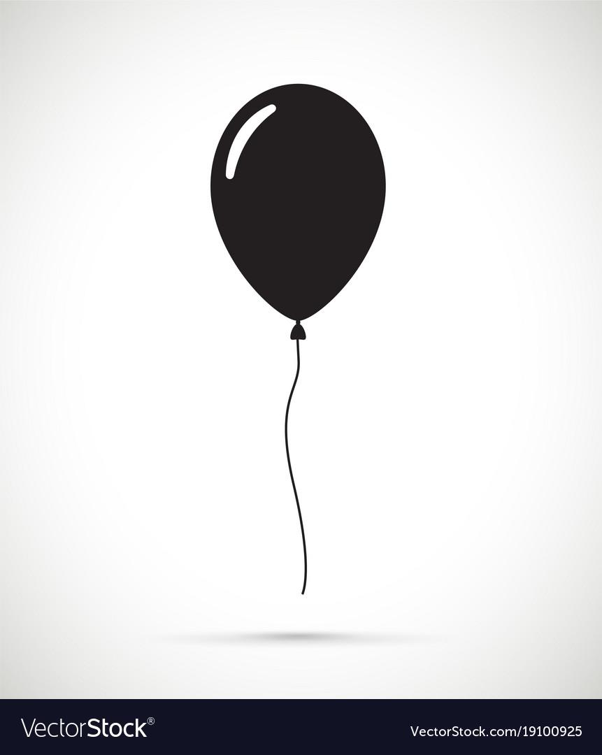 a black balloon royalty free vector image vectorstock rh vectorstock com balloon vector free download balloon vector logos eps