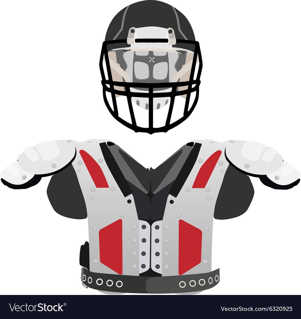American football helmet and armour