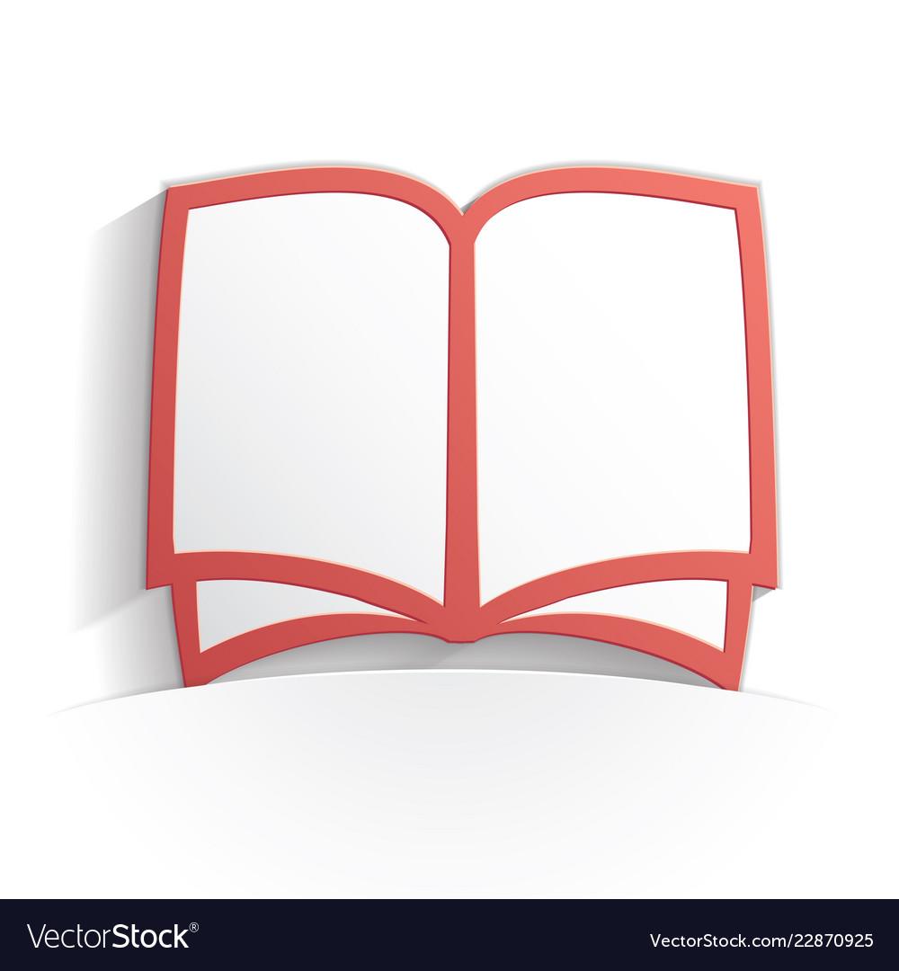 Book icon paper