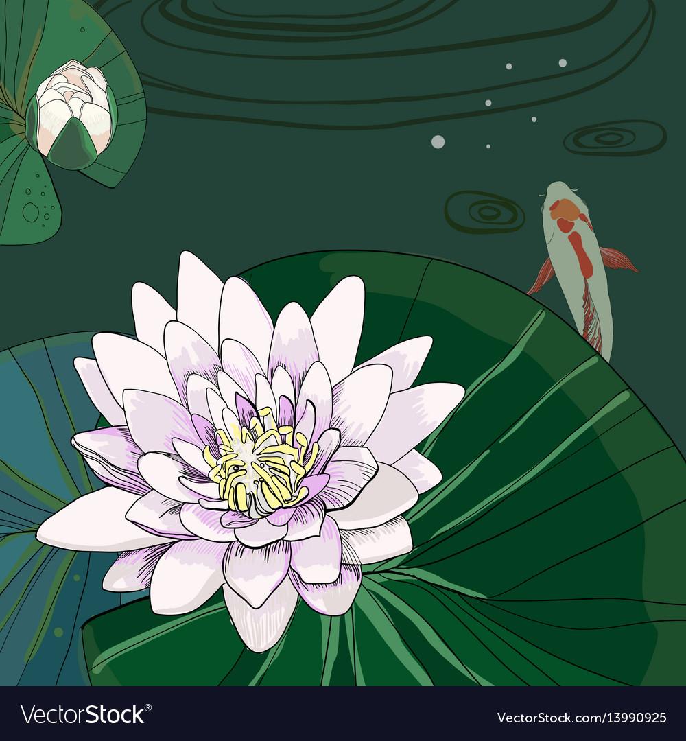 Colorful drawing natural poster vector image