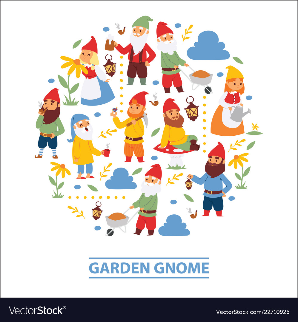 Garden Gnome Beard Dwarf Characters Wallpaper And