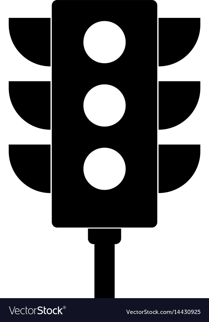 icon of traffic light royalty free vector image vectorstock