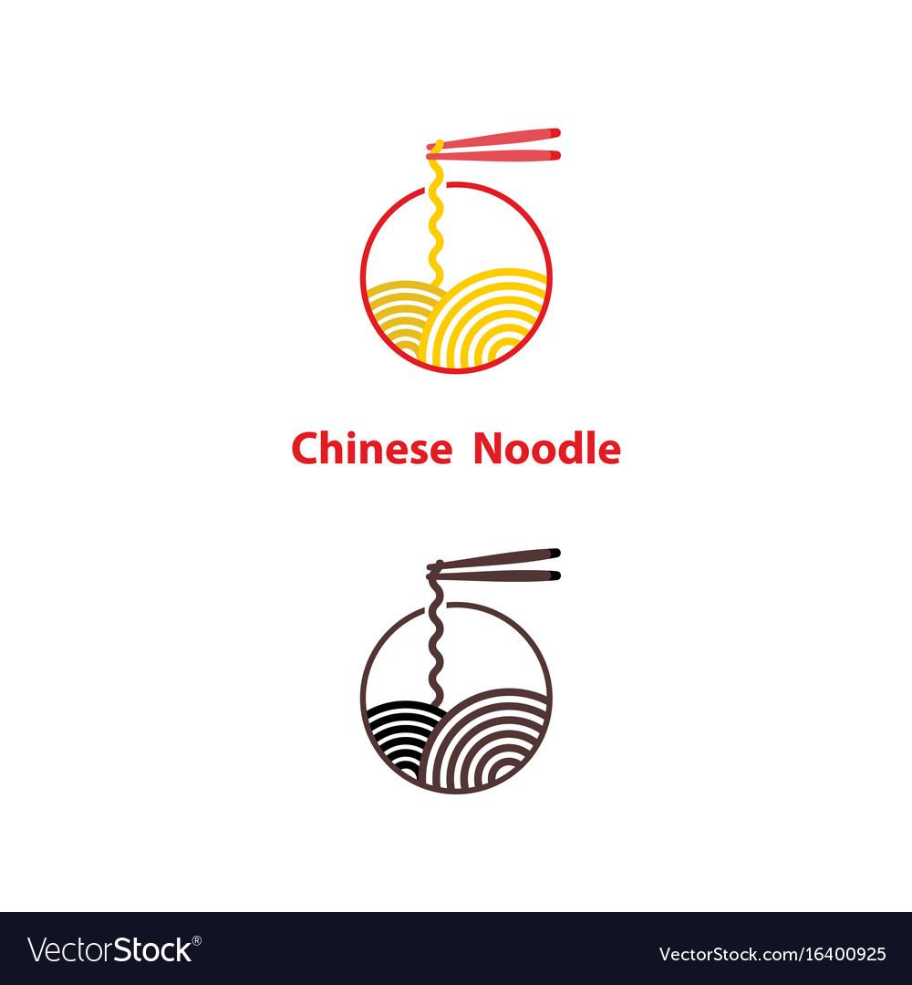 Noodle restaurant and food logo designchinese