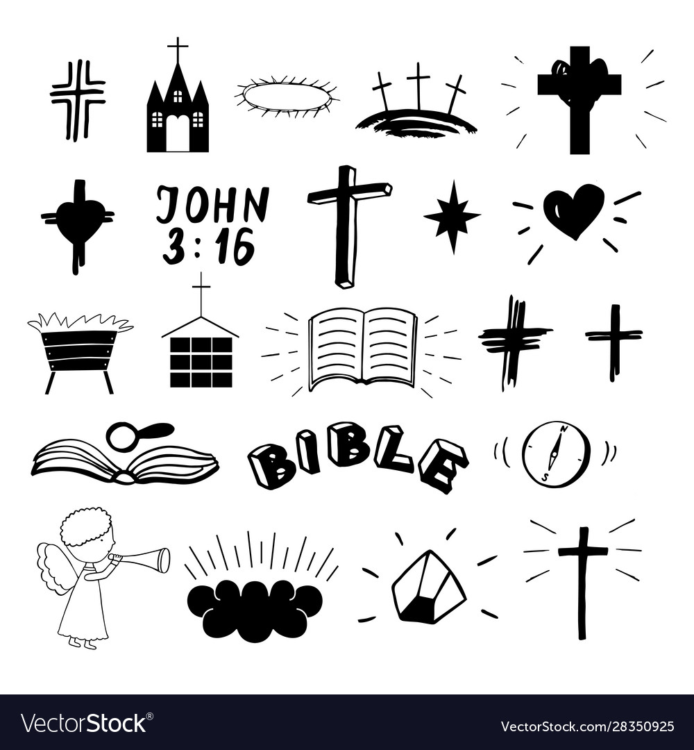 Set 22 christian icons ministry biblical