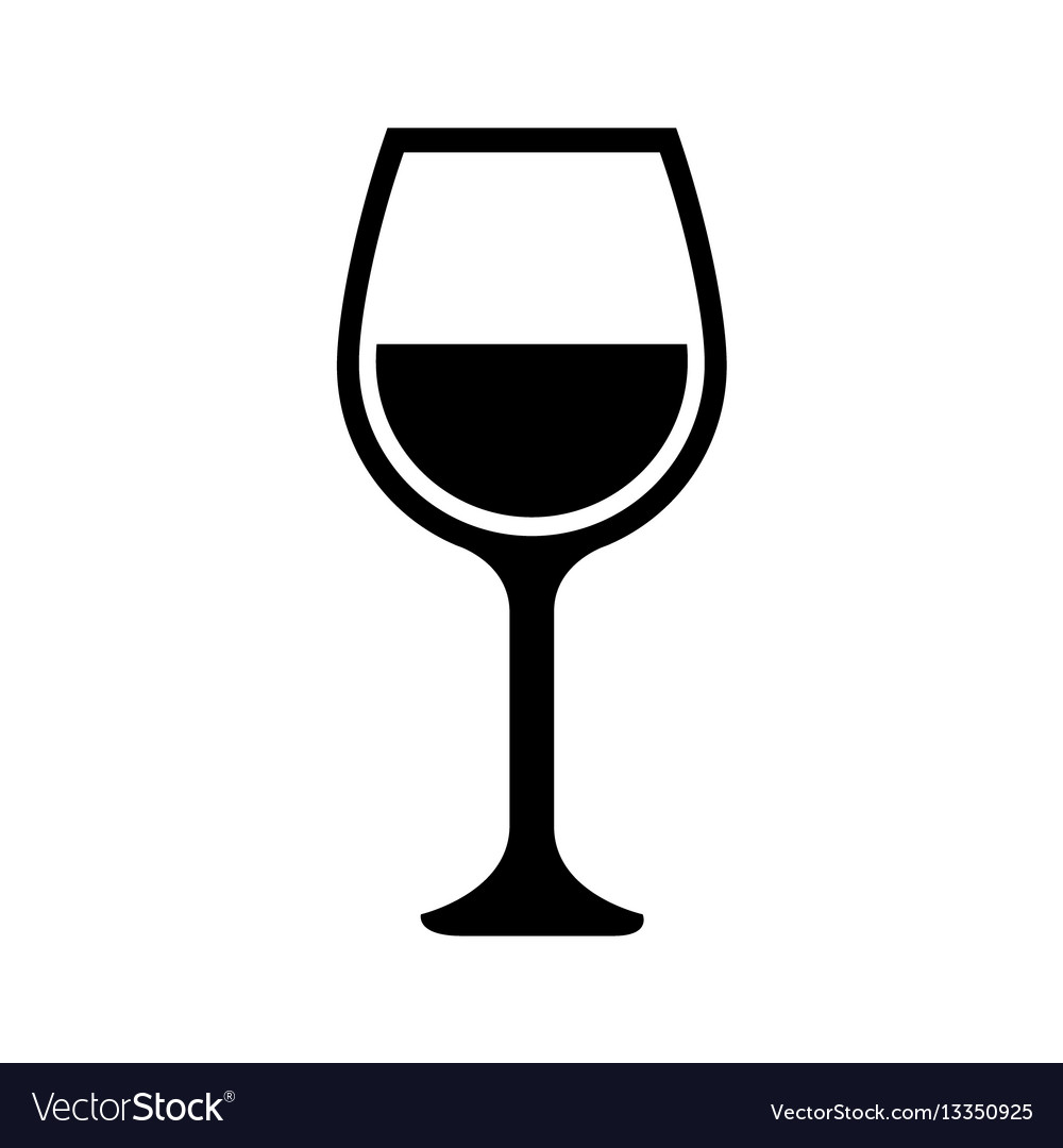 Wine cup isolated icon