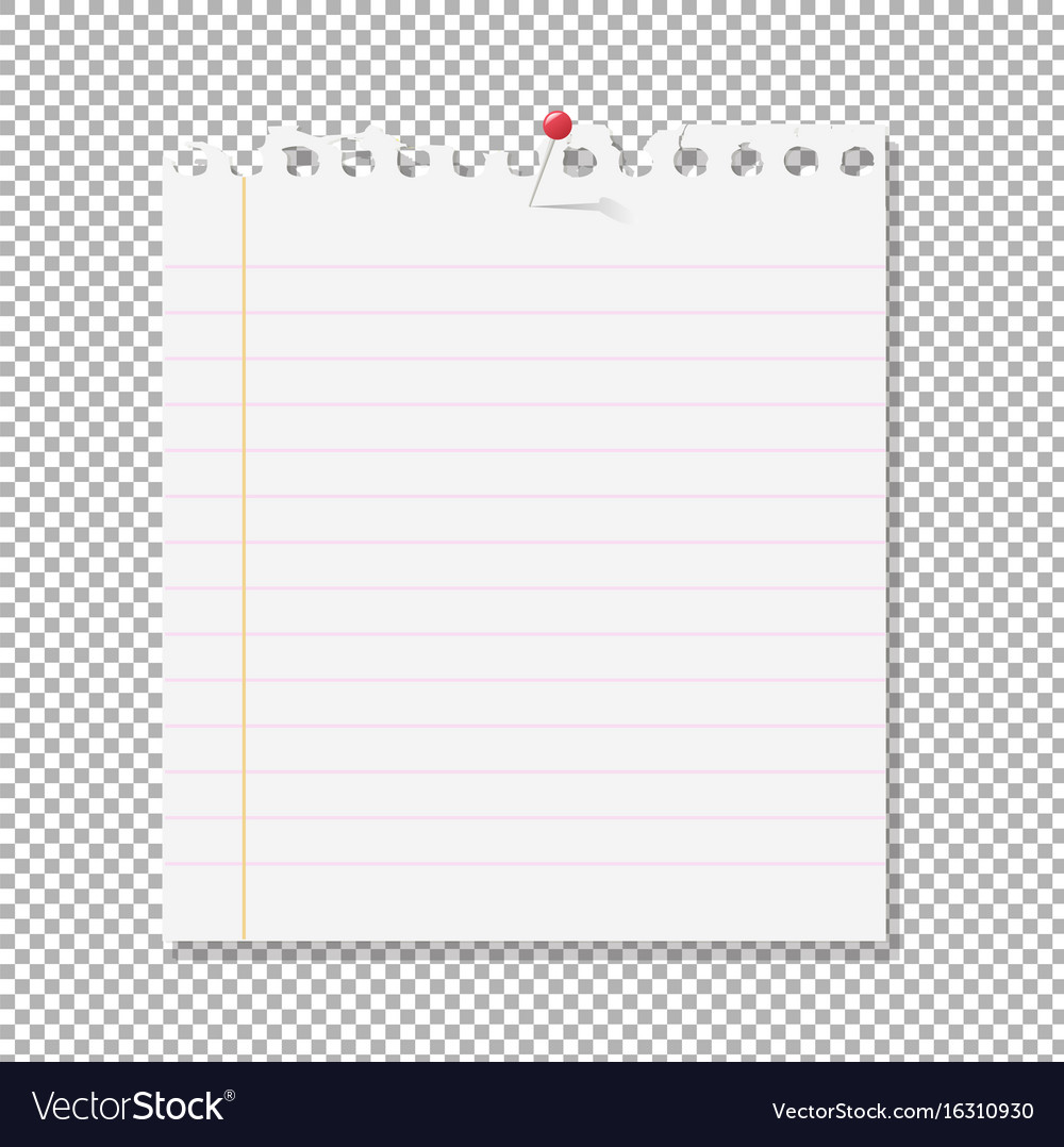 Blank Paper Transparent Background