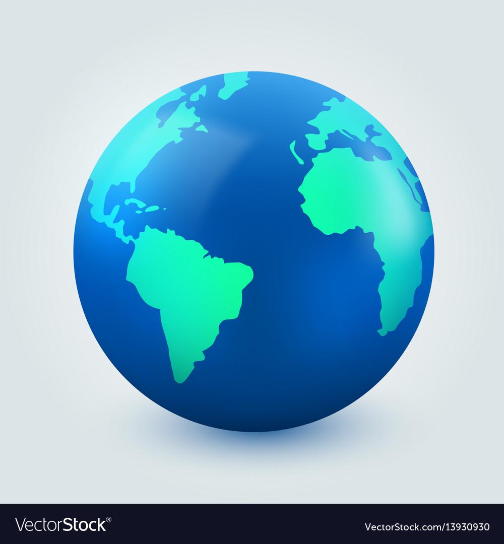 Earth globe on white background internet