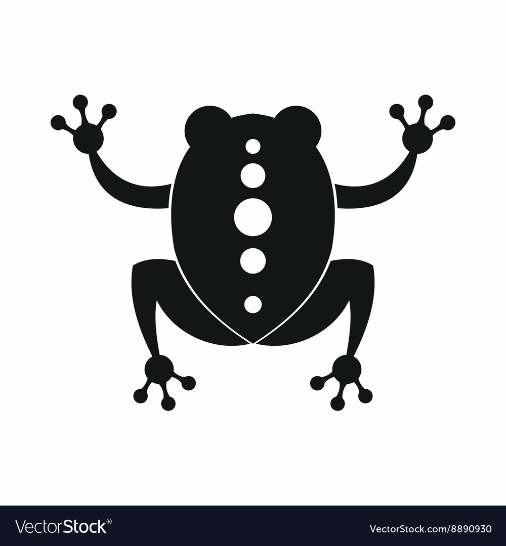 Frog icon black simple style