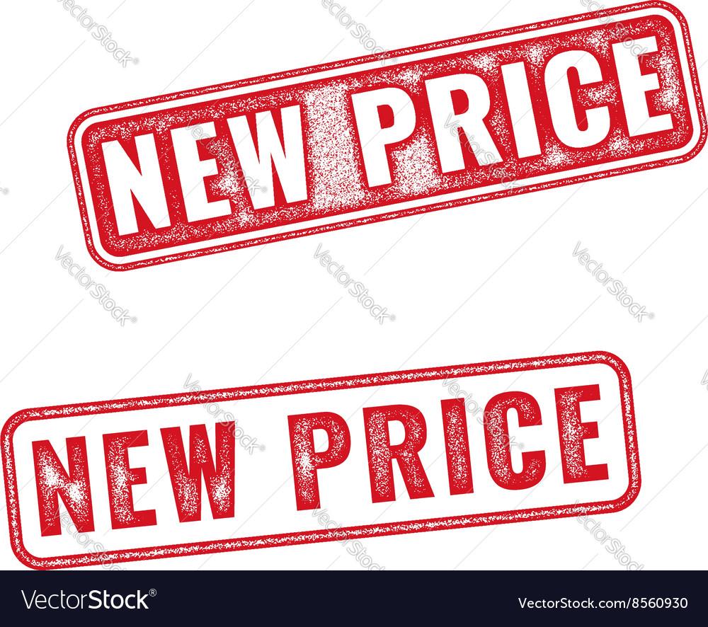 Grunge textured rubber stamp New Price