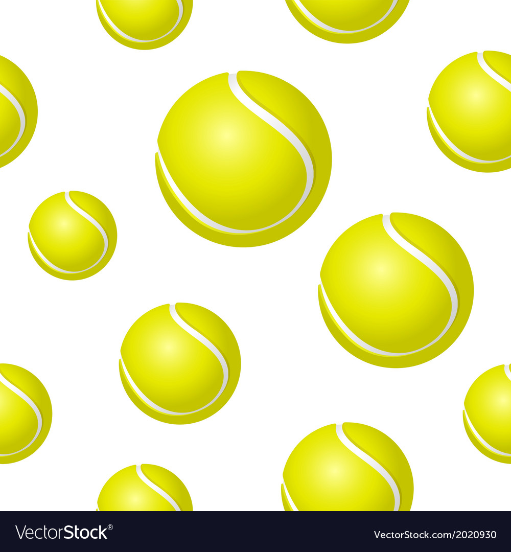 Tennis Ball Background Royalty Free Vector Image