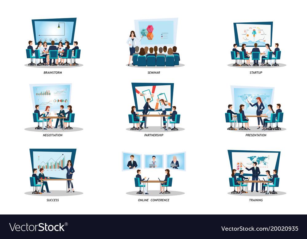 Business people of meeting or teamwork