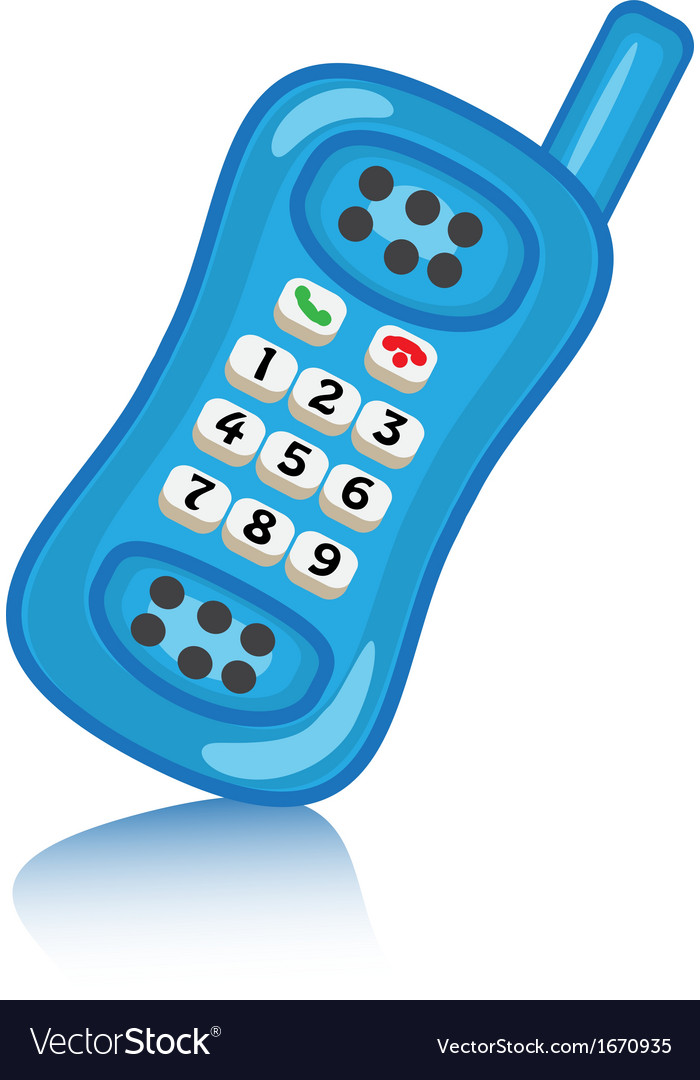 Cartoon phone with buttons