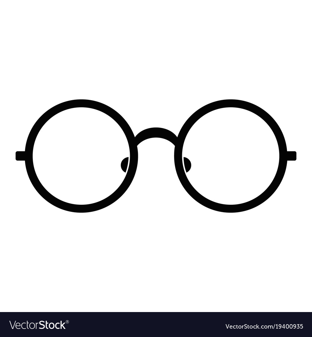 92c8478f6a Children eyeglasses icon simple style Royalty Free Vector
