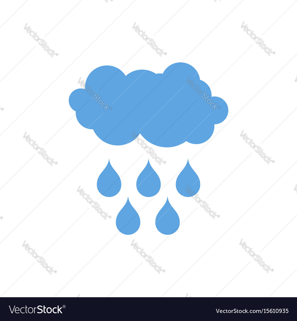 Cloud and rain icon weather pictogram isolated