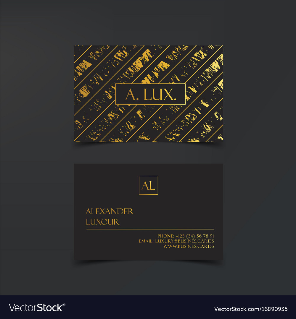 Fashion elegant black luxury business cards with vector image colourmoves