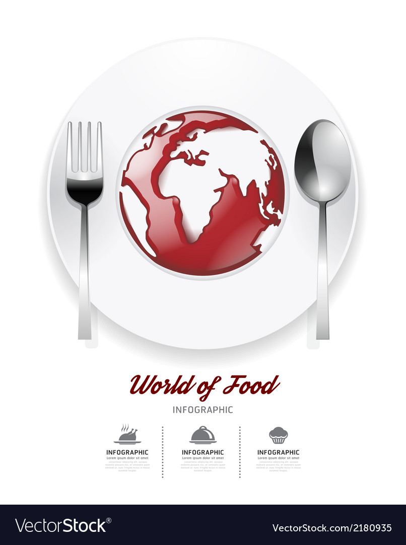 Infographic world of food Design template
