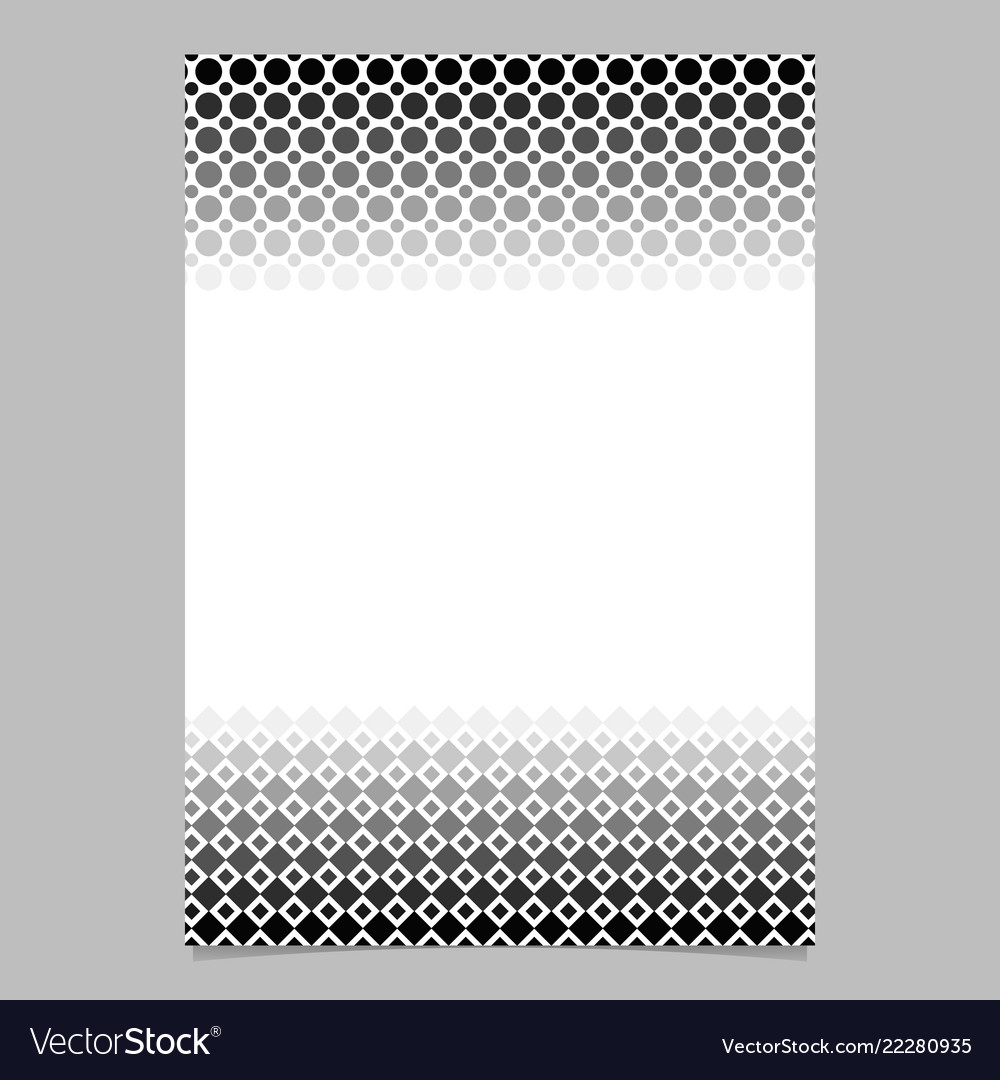 Monochrome abstract halftone geometrical circle