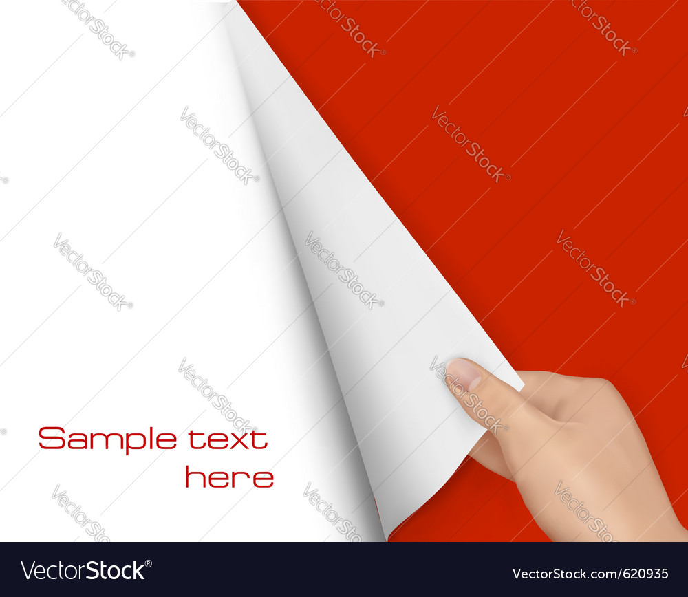 Page turn vector image