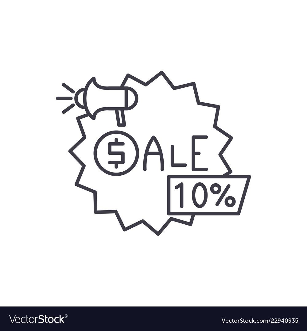 Sales line icon concept sales linear