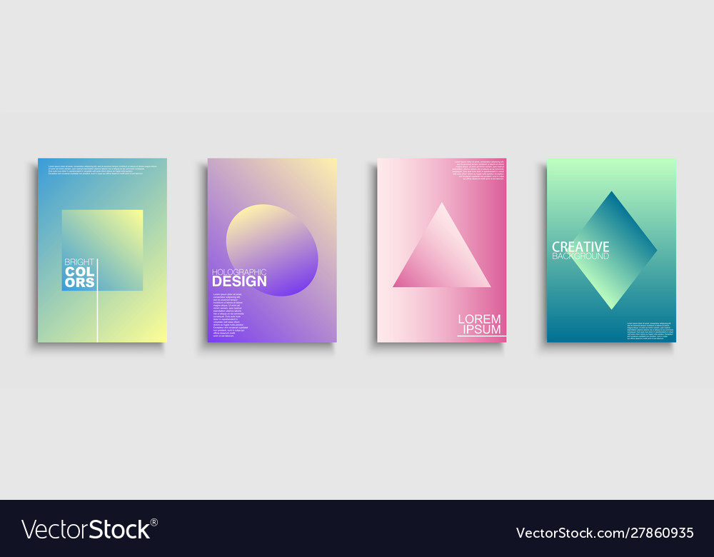 Trendy colorful minimalistic covers templates