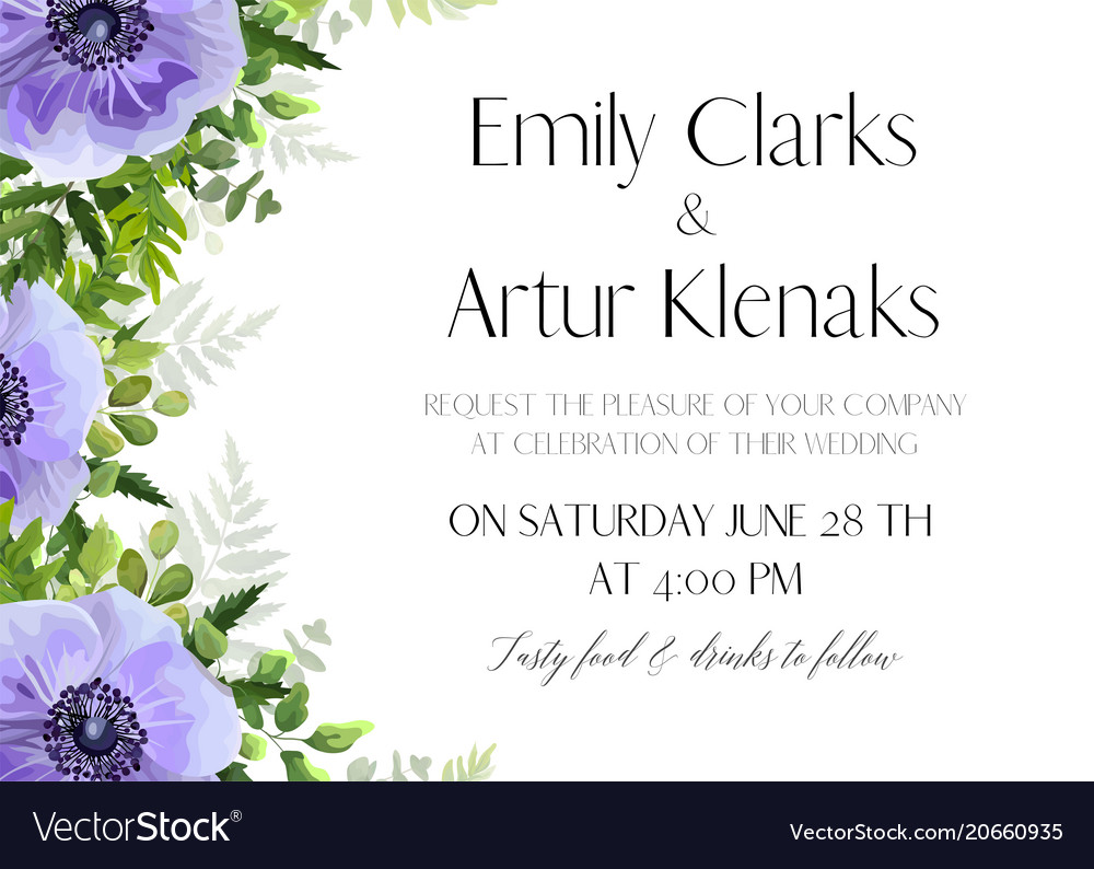 Wedding floral invitation card design