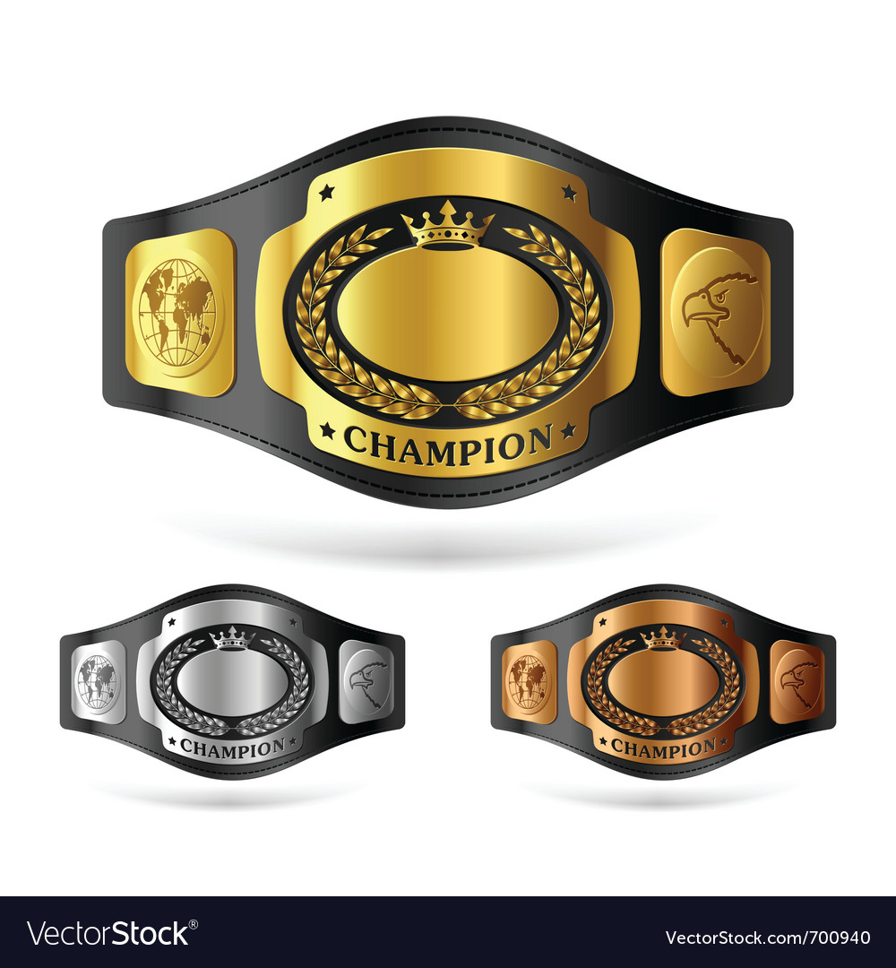 champion belt royalty free vector image vectorstock