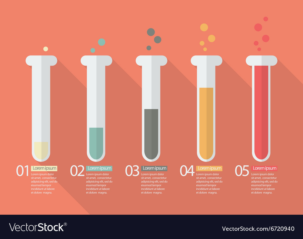 chemistry bulb bar graph infographic royalty free vector