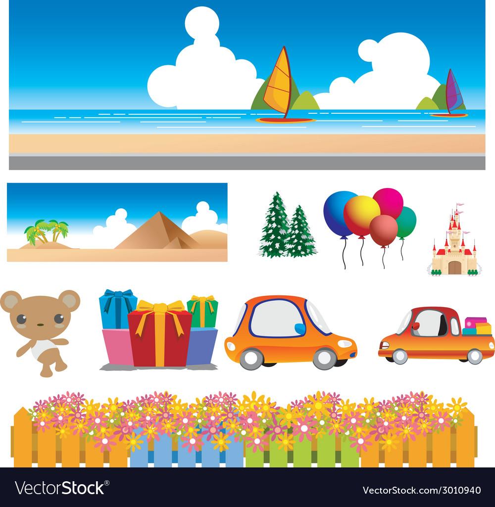 Colorful cartoons
