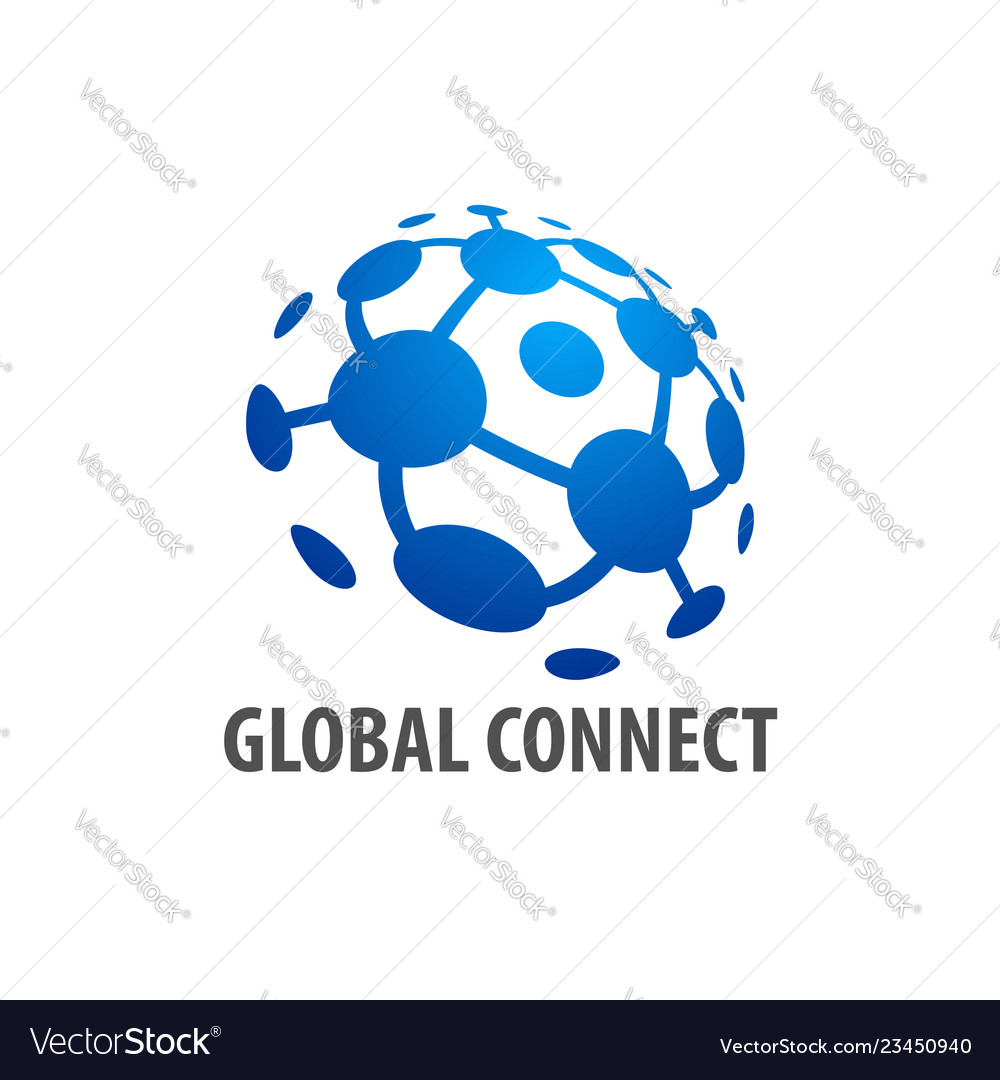 Global connection logo concept design template in